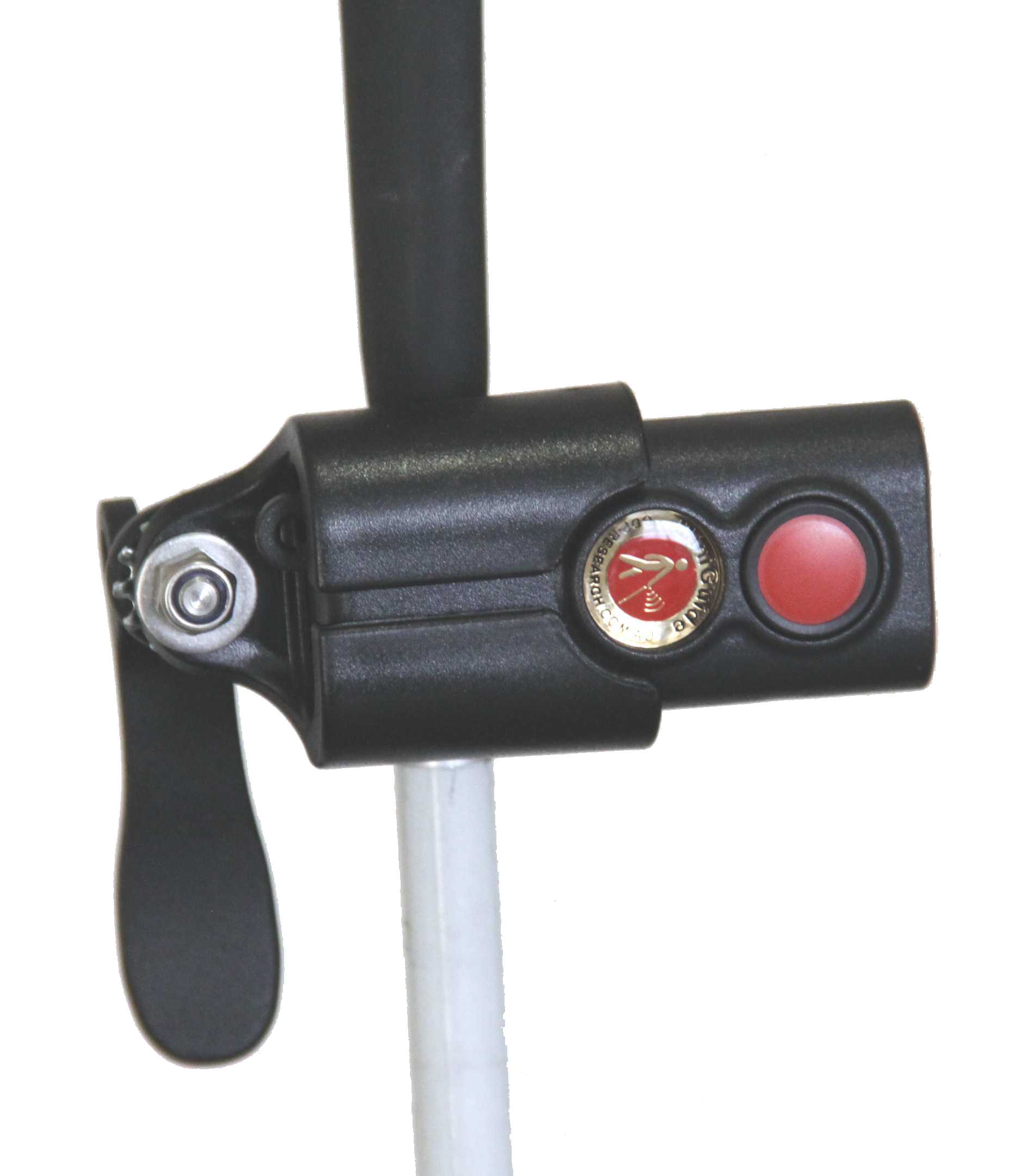 The Miniguide holder on a standard cane
